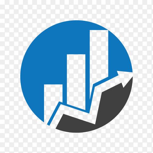 Illustration of Business Finance logo design on transparent background PNG