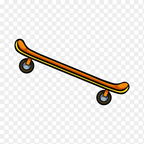 Illustration on skateboard on transparent background PNG