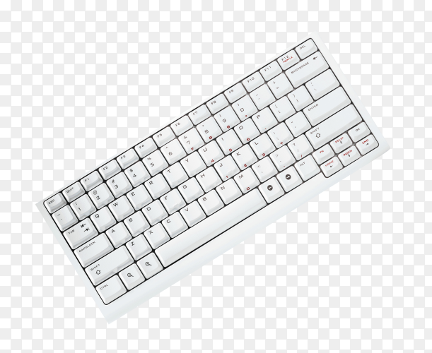 Keyboard isolated on transparent background PNG