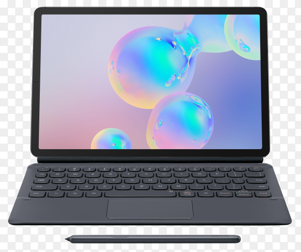 Laptop device isolated on transparent background PNG
