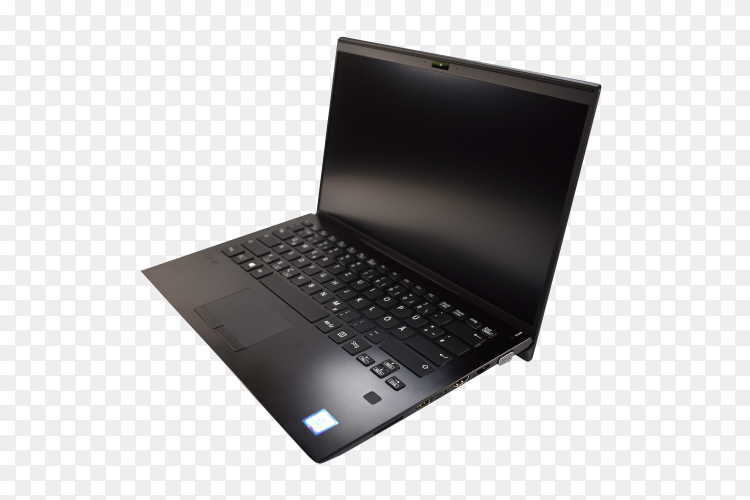 Laptop mock-up isolated on transparent background PNG