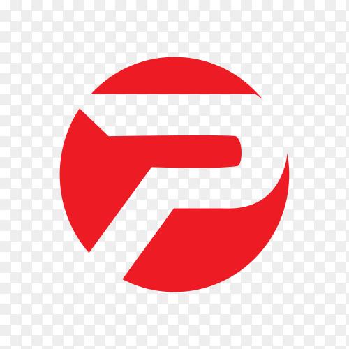 Letter logo design template on transparent background PNG