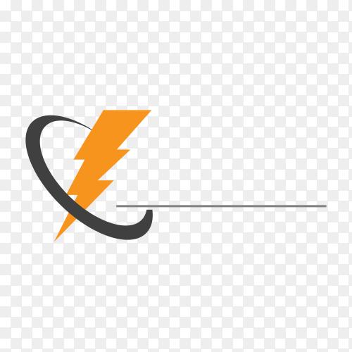 Logo template and symbols lightning icon design premium vector PNG