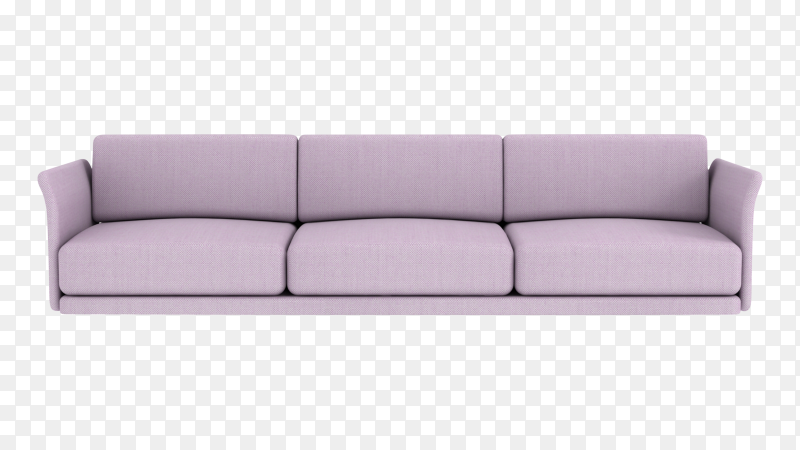 Long sofa on transparent background PNG