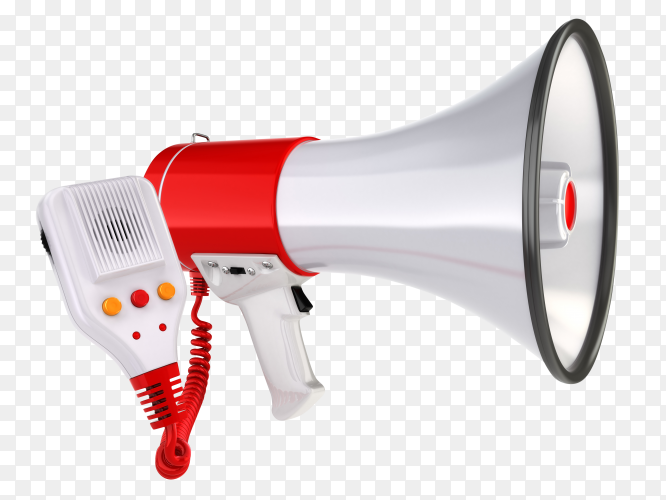 Megaphone isolated on transparent background PNG