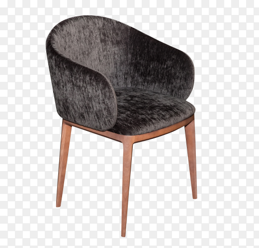 Modern brown chair isolated on transparent background PNG