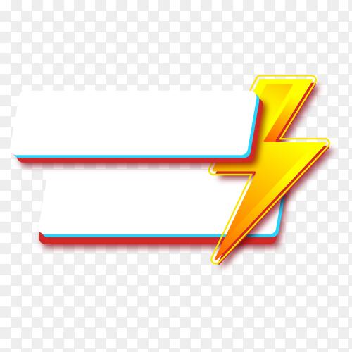 Modern flash sale banner promotion template on transparent background PNG