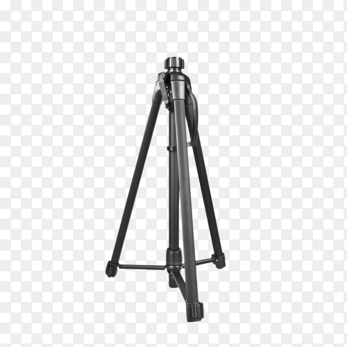 Modern tripod for camera isolated on transparent background PNG