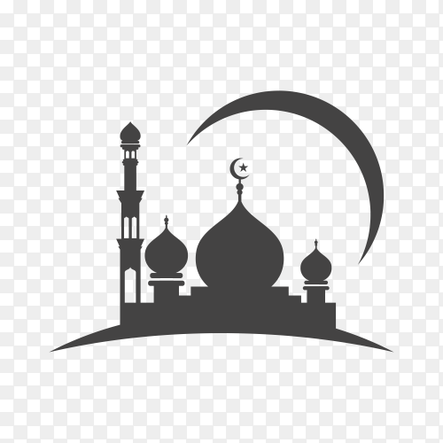 Mosque icon illustration on transparent background PNG