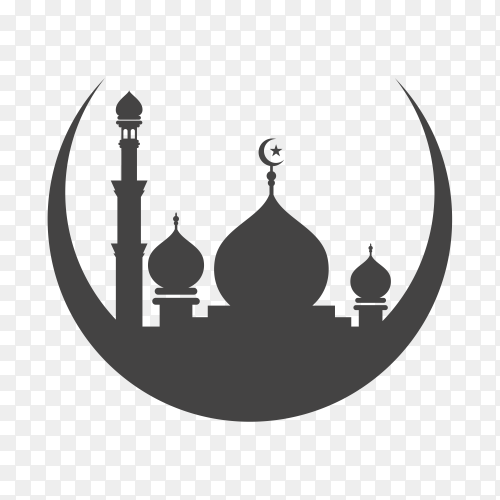 Mosque icon isolated on transparent background PNG