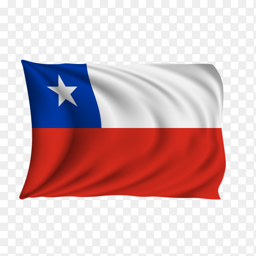 National flag of the Chile on transparent background PNG