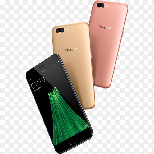 OPPO R11 review phone on transparent background PNG