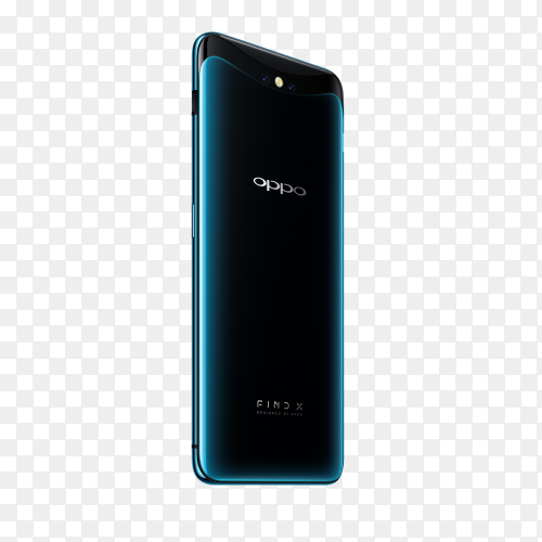 Oppo mobile phone on transparent background PNG