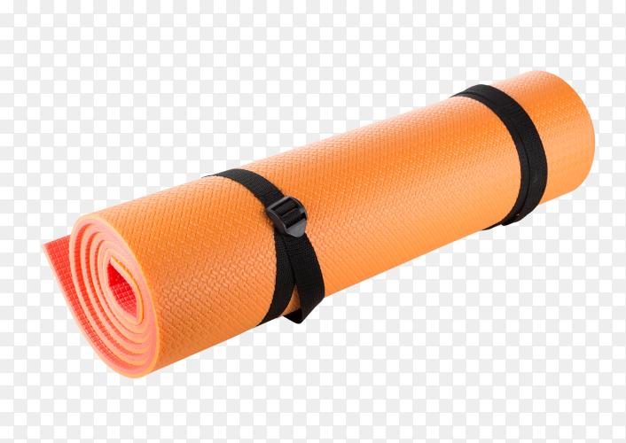 Orange camping mat on transparent background PNG