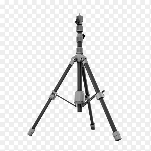 Photo tripod . Camera mobile stand on transparent background PNG