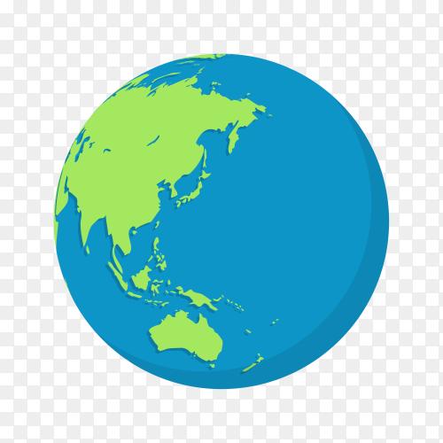 Plant earth globes design on transparent background PNG