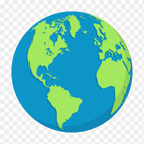 Plant earth globes isolated on transparent background PNG