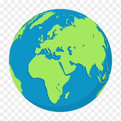 Plant earth globes on transparent background PNG