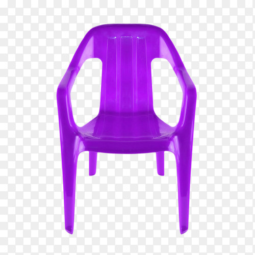 Plastic chair isolated on transparent background PNG