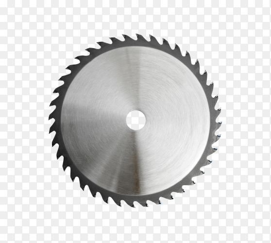 Saw blade isolated on transparent background PNG