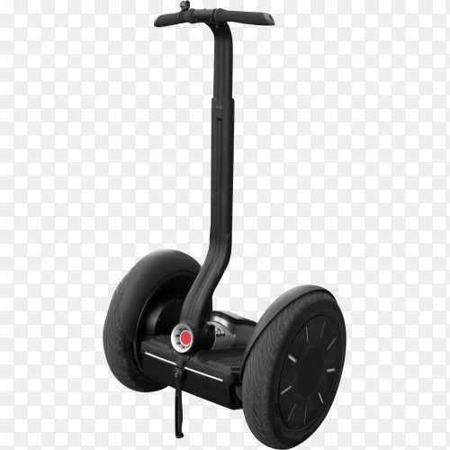 Segway with handle isolated on transparent background PNG