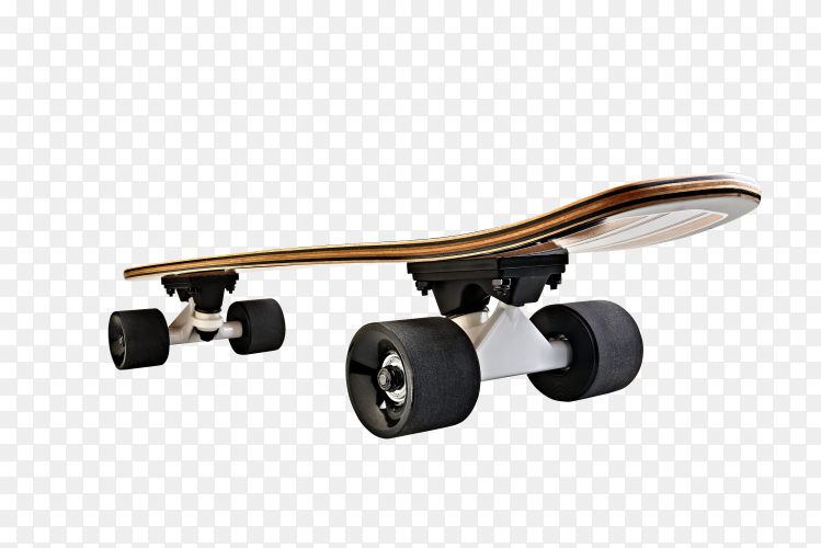 Skateboard isolated on transparent background PNG