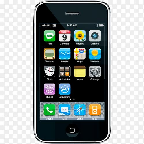 Smartphone mockup on transparent background PNG