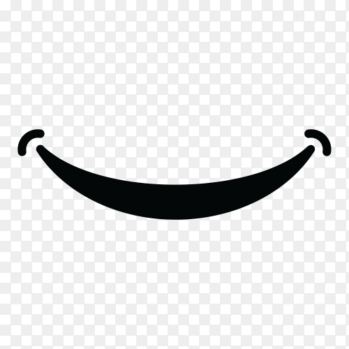 Smile logo template on transparent background PNG