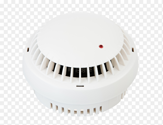 Smoke detector isolated on transparent background PNG