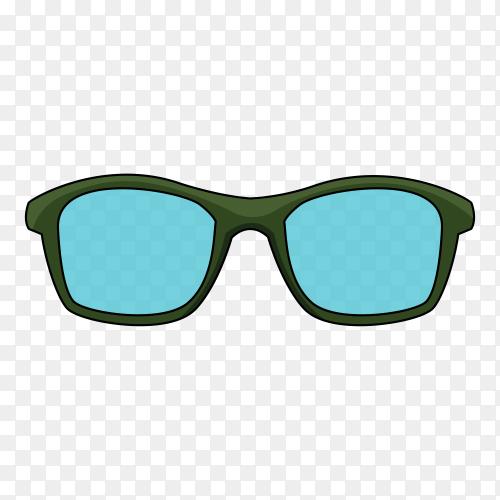 Sunglasses illustration on transparent background PNG