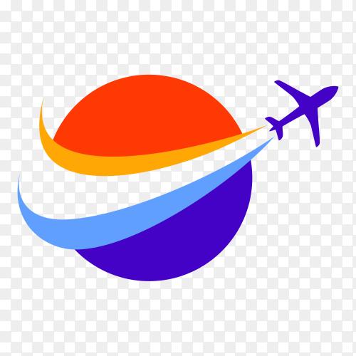 Travel agency logo design template on transparent background PNG