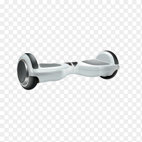 White segway isolated on transparent background PNG