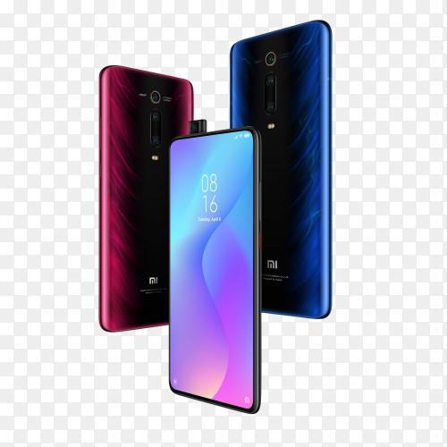 Xiaomi Mobile Phone on transparent background PNG