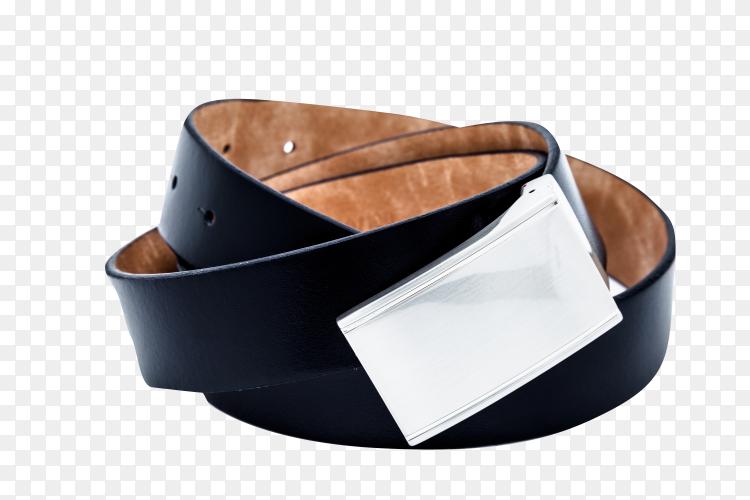 Black belt on transparent background . PNG
