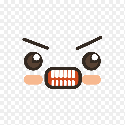 cute lovely kawaii emoticon on transparent PNG