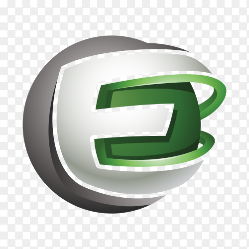 Abstract Letter E Logo on transparent background PNG