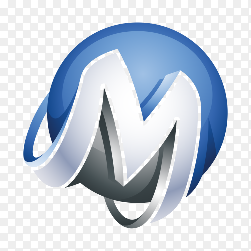 Abstract Letter M Logo illustration premium vector PNG