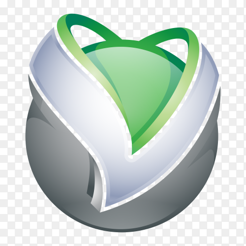 Abstract Letter V Logo on transparent PNG