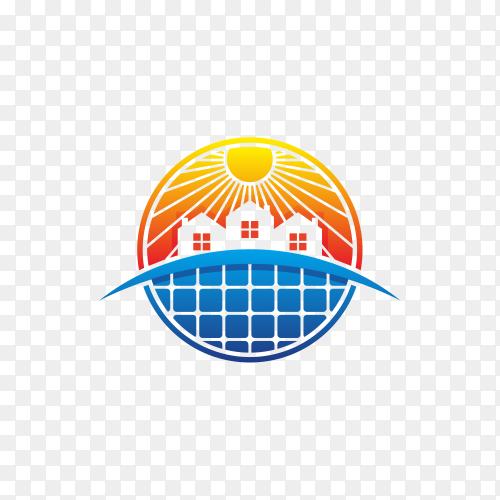 Abstract modern solar energy logo design premium vector PNG
