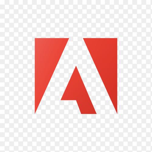 Adobe logo template on transparent background PNG