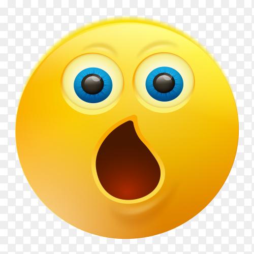 Astonished Face Emoji on transparent background PNG…