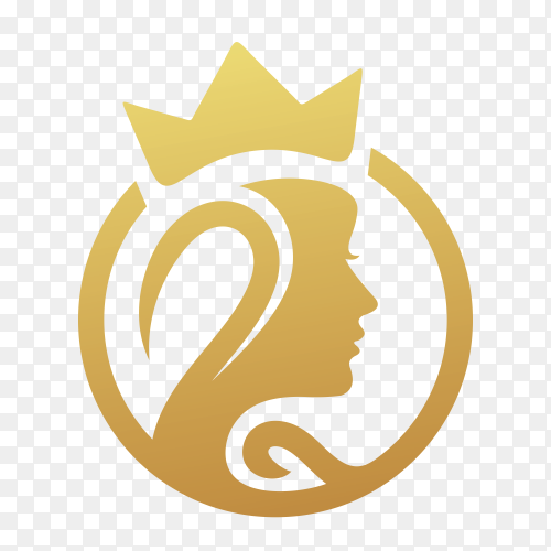 Beauty women,natural spa, cosmetic, logo design on transparent background PNG