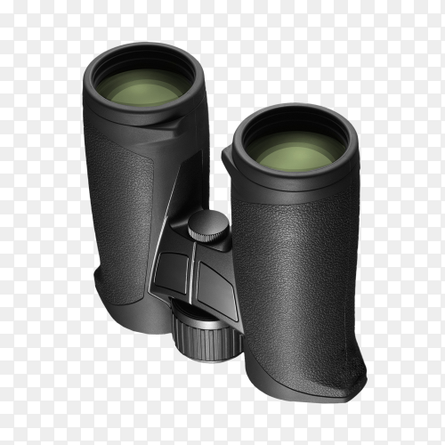 Binoculars isolated on transparent background PNG