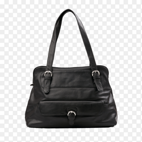 Black female bag isolated on transparent background PNG