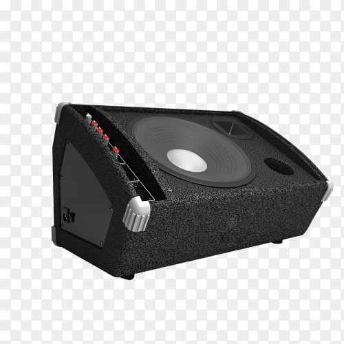 Black speaker isolated on transparent background PNG