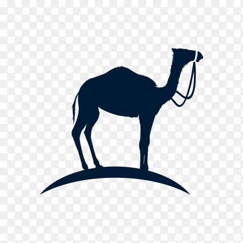Camel logo design template on transparent background PNG