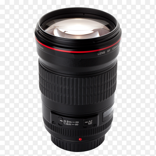 Camera lens isolated on transparent background PNG