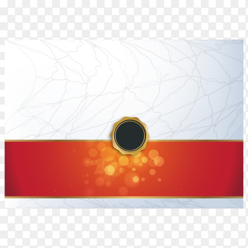 Certificate diploma design template on transparent background PNG