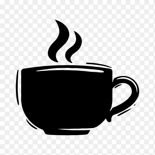 Coffee logo design on transparent background PNG