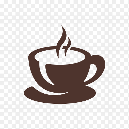 Coffee shop logo design template on transparent background PNG